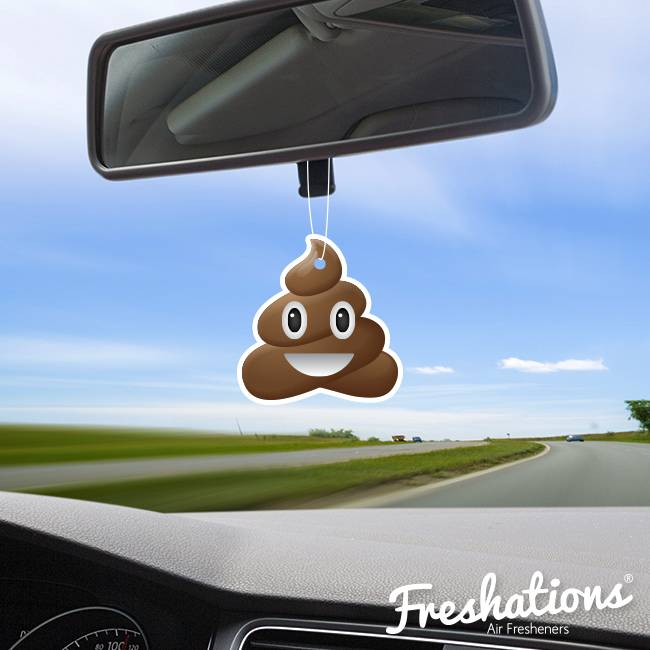Air fresheners by Freshations | Emoticon - Poo | Coconut
