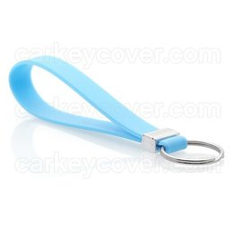 Keychain - Silicone - Light Blue