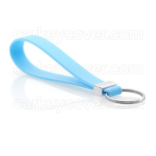 Keychain - Silicone - Light Blue