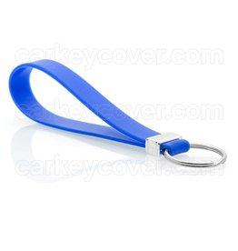 Porte-clés en silicone - Bleu