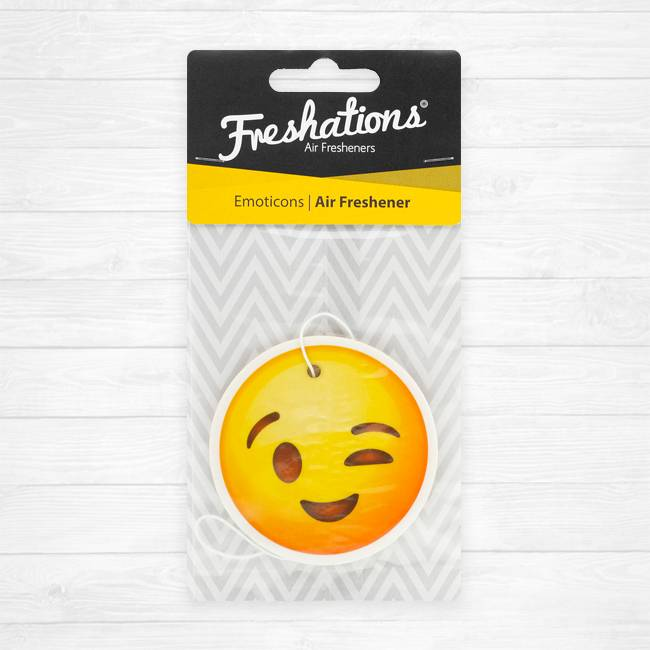 Air fresheners by Freshations | Emoticon - Wink | Rose