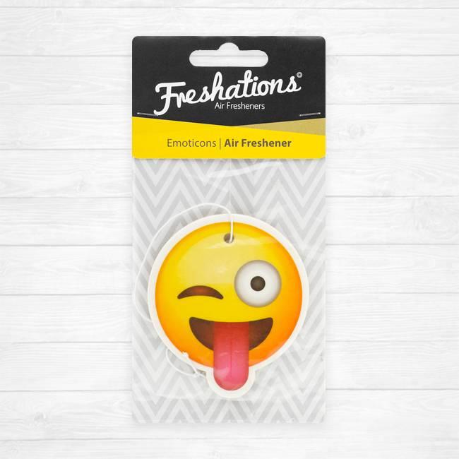 Lufterfrischer von Freshations | Emoticon - Funny tongue | Citrus