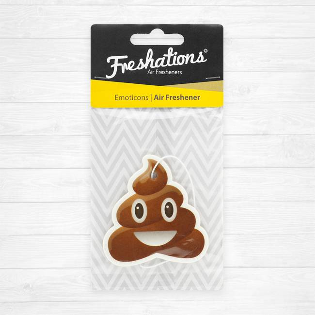 Assainisseurs d'air de Freshations | Émoticône - Poo | Coconut