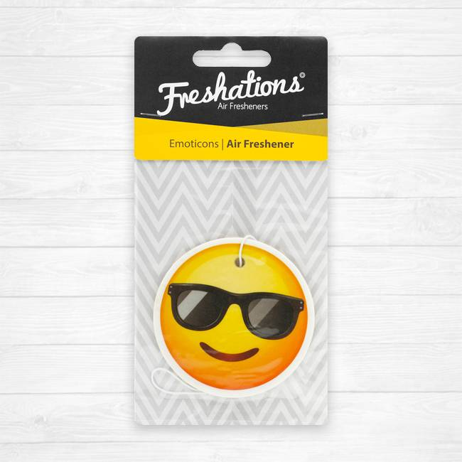 Assainisseurs d'air de Freshations   Émoticône - Sunglasses   New Car