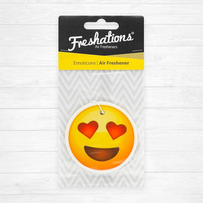 Air fresheners by Freshations | Emoticon - Heart Eyes | Summer