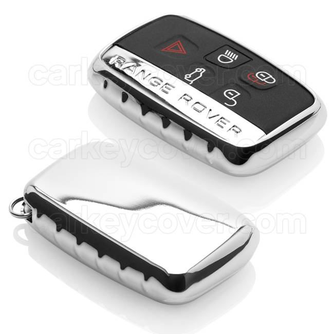 coques silicone cl voiture chrome coque de cl pour range rover. Black Bedroom Furniture Sets. Home Design Ideas