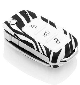 Skoda Car key cover - Zebra