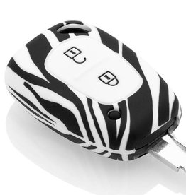 Car key Cover for Renault - Zebra
