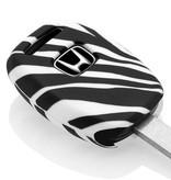 Honda Car key cover - Zebra