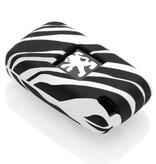Peugeot Schlüssel Hülle - Zebra