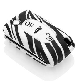 Fiat Car key cover - Zebra