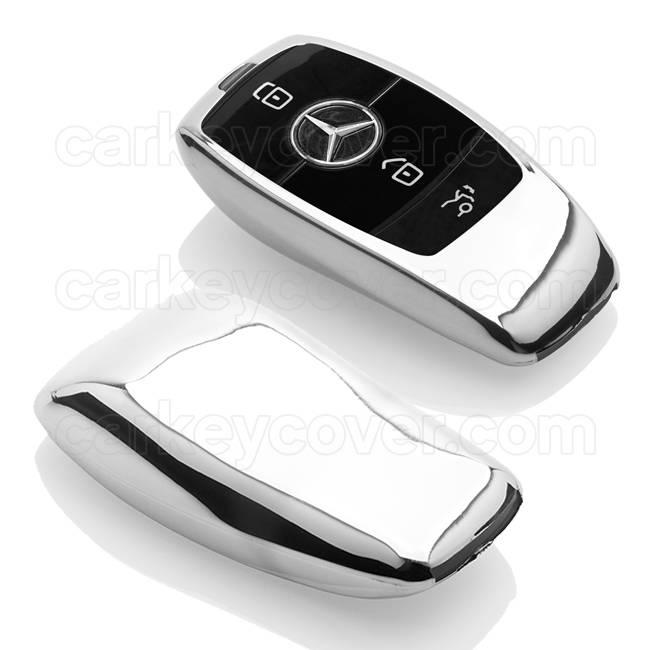 Car key cover chrome mercedes key covers for Mercedes benz car key