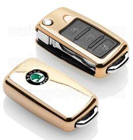 Skoda Housse de protection clé - Gold (Special)