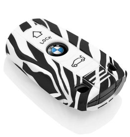 BMW Car key cover - Zebra