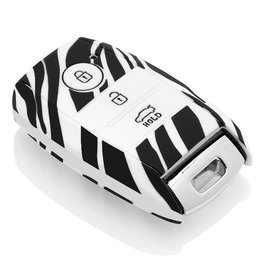 Kia Car key cover - Zebra