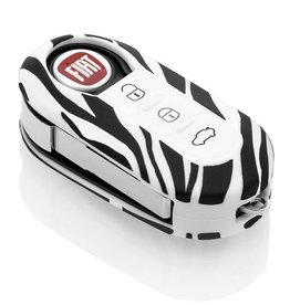 Fiat Schlüssel Hülle - Zebra