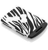 Car key Cover for Renault - Zebra