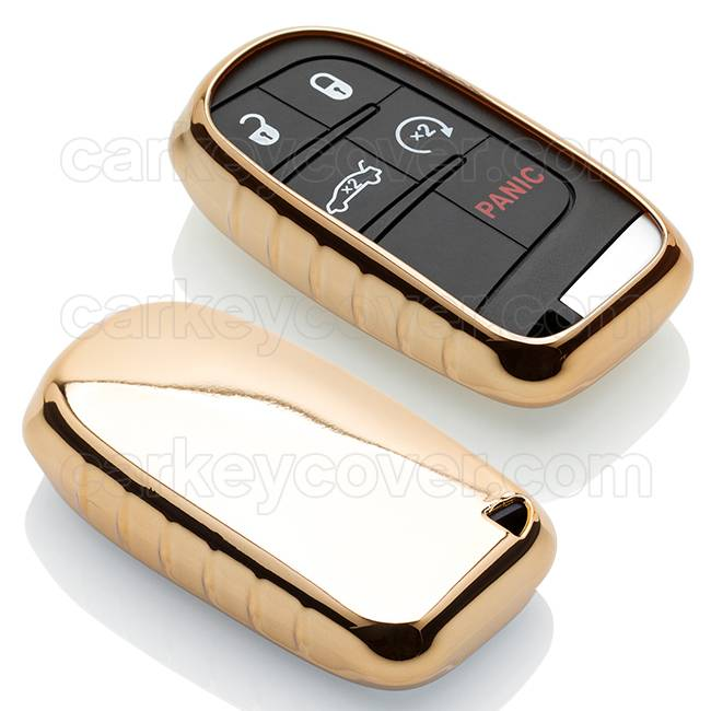 Jeep Car key cover - Gold (Special)