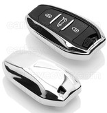 Peugeot Car key cover - Chrome (Special)
