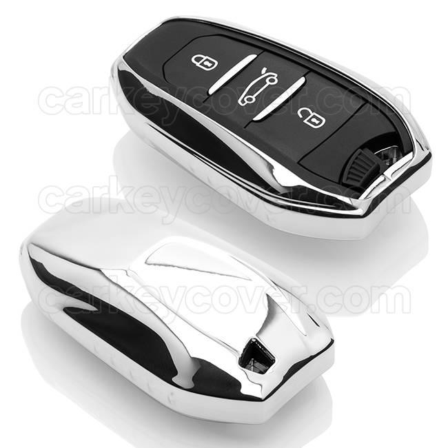 Peugeot Schlüssel Hülle - Chrom (Special)