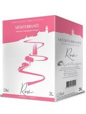 La Cave Les Coteaux du Rhône IGP Mediterranée Rosé 3 Liter Bag in Box