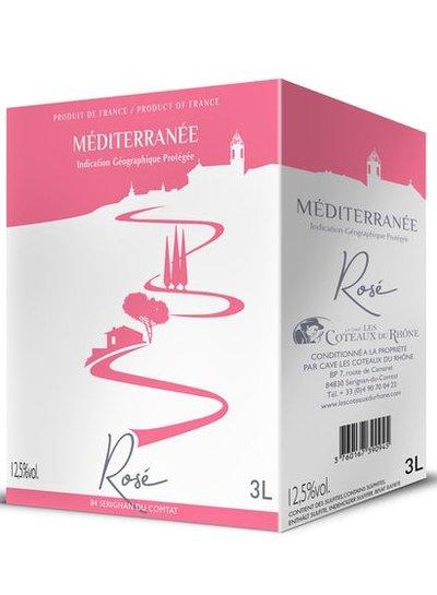 La Cave Les Coteaux du Rhône IGP Mediterranée Rosé Bag in Box Wine 3 Liter
