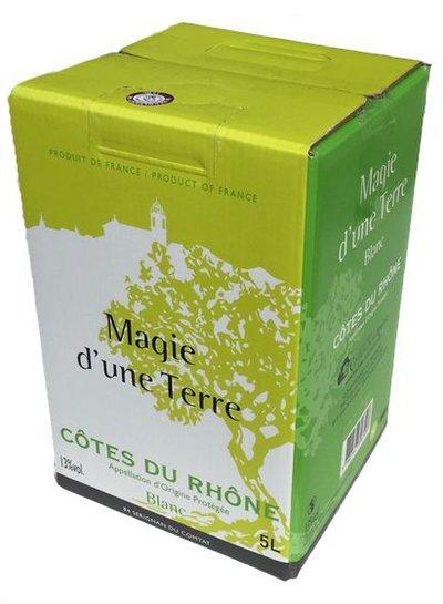 La Cave Les Coteaux du Rhône AOP Côte du Rhône blanc 5 Liter Bag in Box
