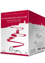 IGP Vaucluse Principauté d'Orange rouge 5 Liter Bag in Box