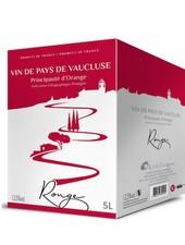 La Cave Les Coteaux du Rhône IGP Vaucluse Principauté d'Orange rouge 5 Liter Bag in Box