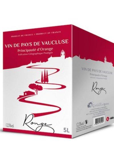 La Cave Les Coteaux du Rhône IGP Vaucluse Principauté d'Orange rouge Bag in Box Wine 3 Liter