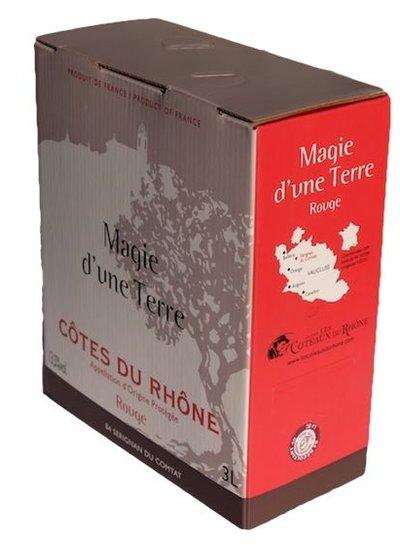 AOC Côte du Rhône rouge La Cave Les Coteaux du Rhône 3 Liter Bag in Box