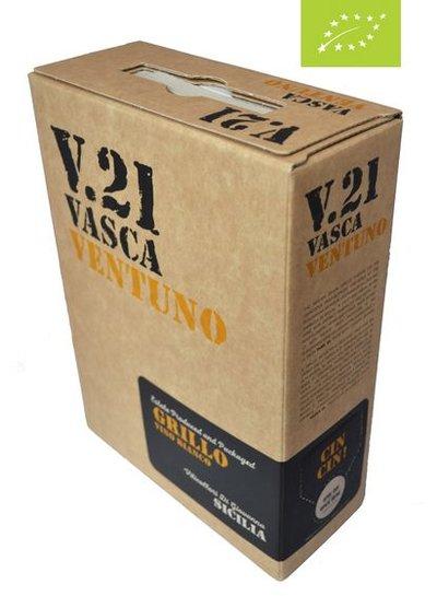 Vasca Ventuno Grillo BIO 3 Liter Bag in Box -DE-ÖKO-037