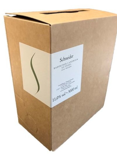 Schneider Badischer Gutedel Landwein trocken 3 Liter Bag in Box