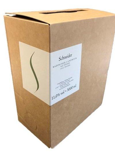 Weingut Schneider Schneider Badischer Landwein Gutedel dry 3 liter bag in box