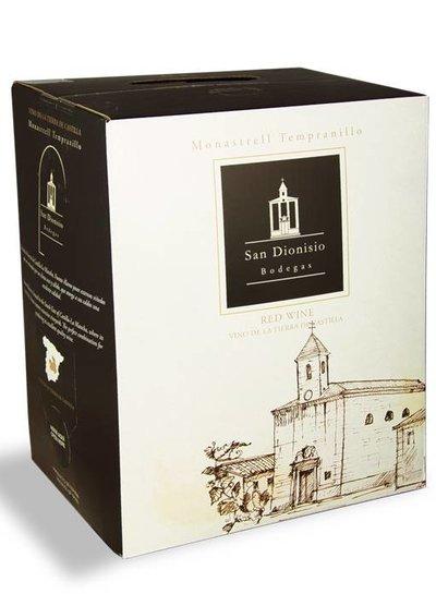 Bodega San Dionisio Monastrell Tempranillo Vino Tinto 5 Liter Bag in Box