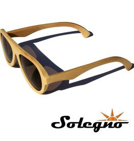 Trendy houten piloten zonnebril (bruine glazen)