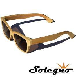 Trendy houten Wayfarer zonnebril (aangepast montuur)