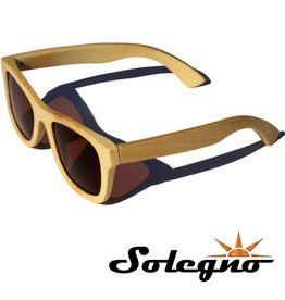 Trendy houten Wayfarer zonnebril (bruine glazen)