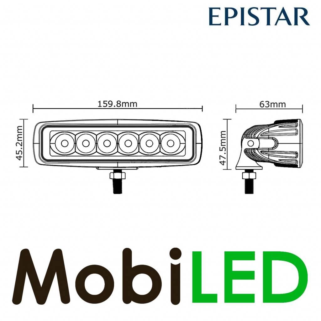 Lampe de travail 18 watt mini LED-barre projecteur large