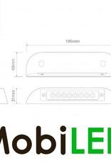 LED autolamps Éclairage intérieur d'entree Rectangle 12 volt Blanc
