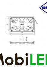 HORPOL Éclairage intérieur Rouge/Blanc avec Interrupteur 12-24 volt