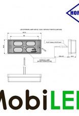 HORPOL Éclairage intérieur Opale 12-24 volt Blanc avec interrupteur