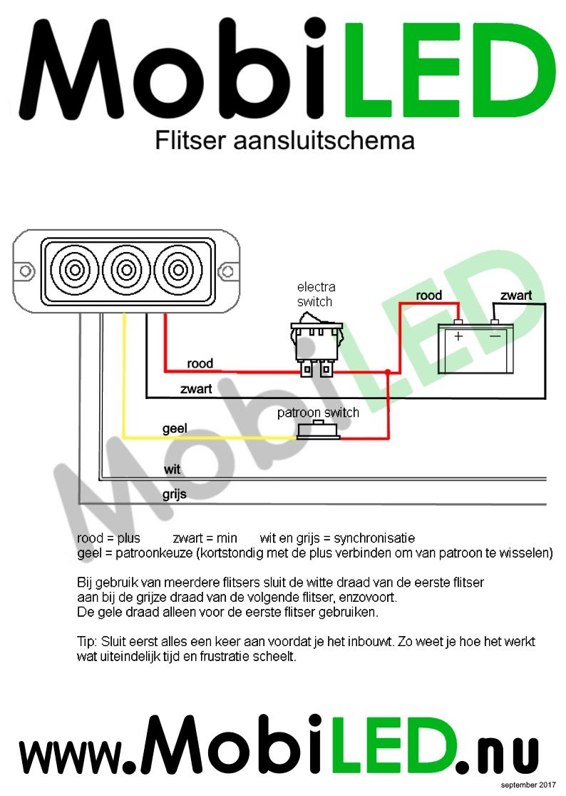 aansluitschema flitser pro serie 5 draden