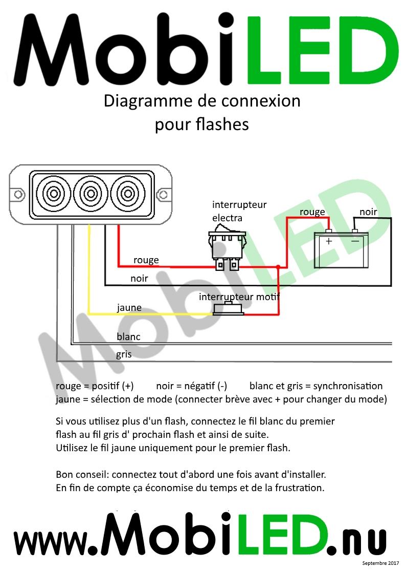 Diagramme Connexion Flash Pro 5 fils