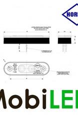 HORPOL Éclairage de contour Ambre assemblage plat/enfoncé 24v E-marque