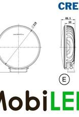 CREE 9 ̎ Projecteur de loin 120W E-marque Ligne Noir