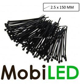 100x (2.5mm x 150mm) Kabelbinders, tie-wraps, bundelbandjes