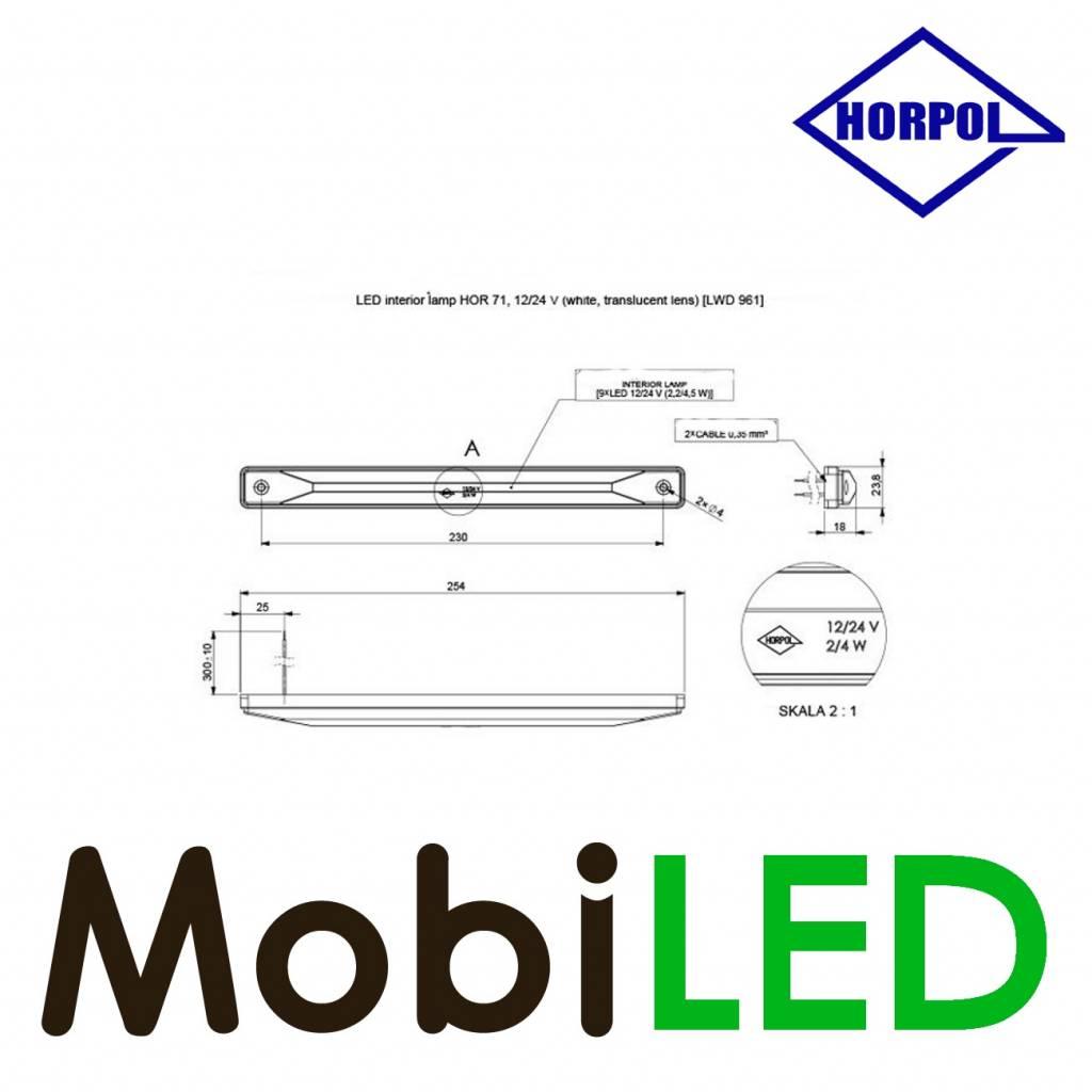 HORPOL Interieurverlichting Helder 12-24 volt Wit 100 Lm