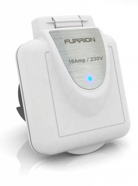 Furrion Square inlet, 16 amp, white cover