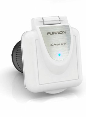 Furrion Square inlet, 32 amp, white cover